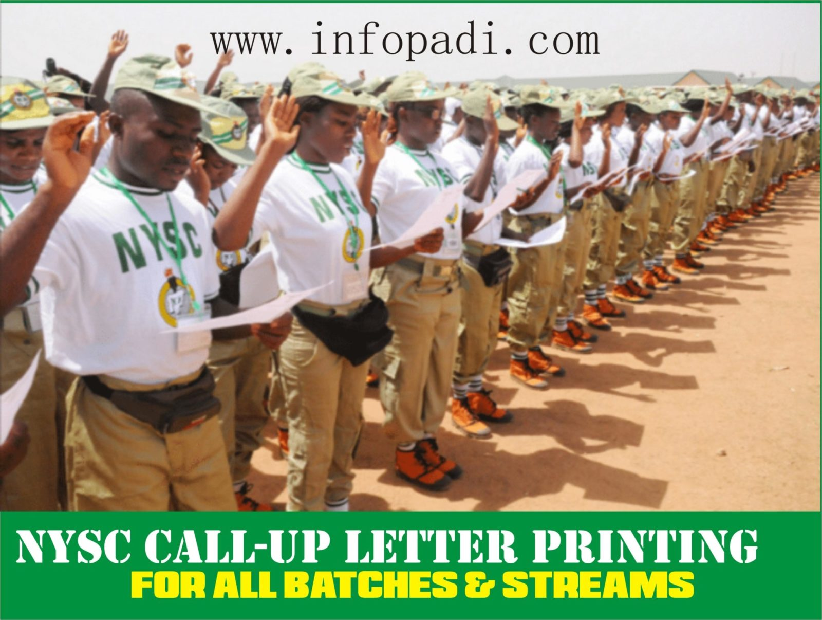 NYSC CALL-UP LETTER PRINTING- Print your 2018 Call-up Letter here and orientation camp guidelines