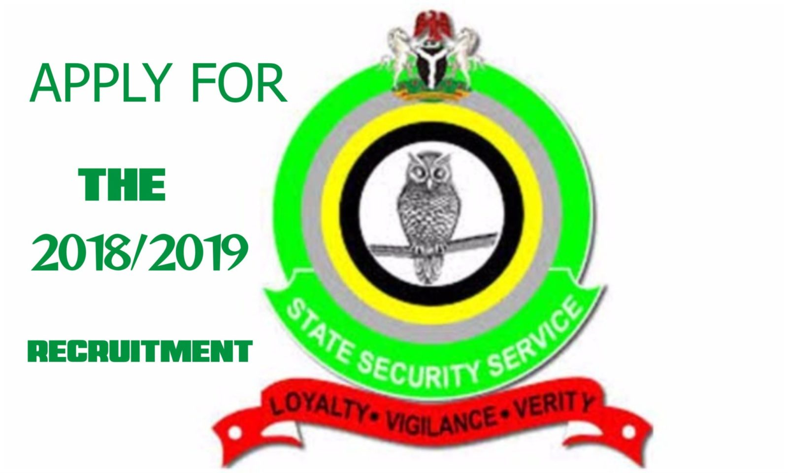 STATE SECURITY SERVICE RECRUITMENT 2019/2020- Application Letter Format- How to write the best application letter