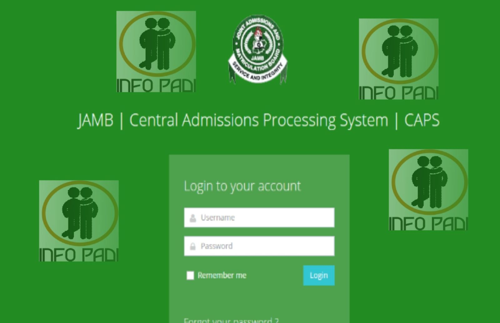Create A Profile on Jamb CAPS Portal Login   Accept 2019 2020 Admission 1d1608f0ab1