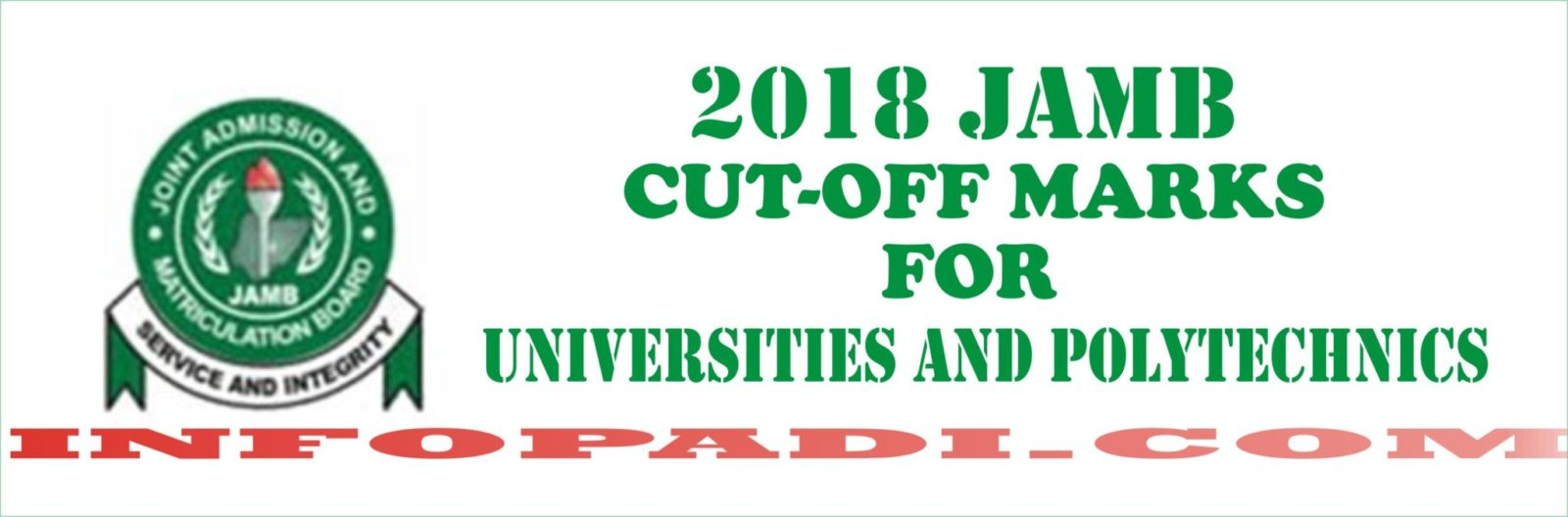 JAMB Cut-Off Marks For All Universities, Polytechnic and College of Education in NIGERIA 2019/2020 (Updated)
