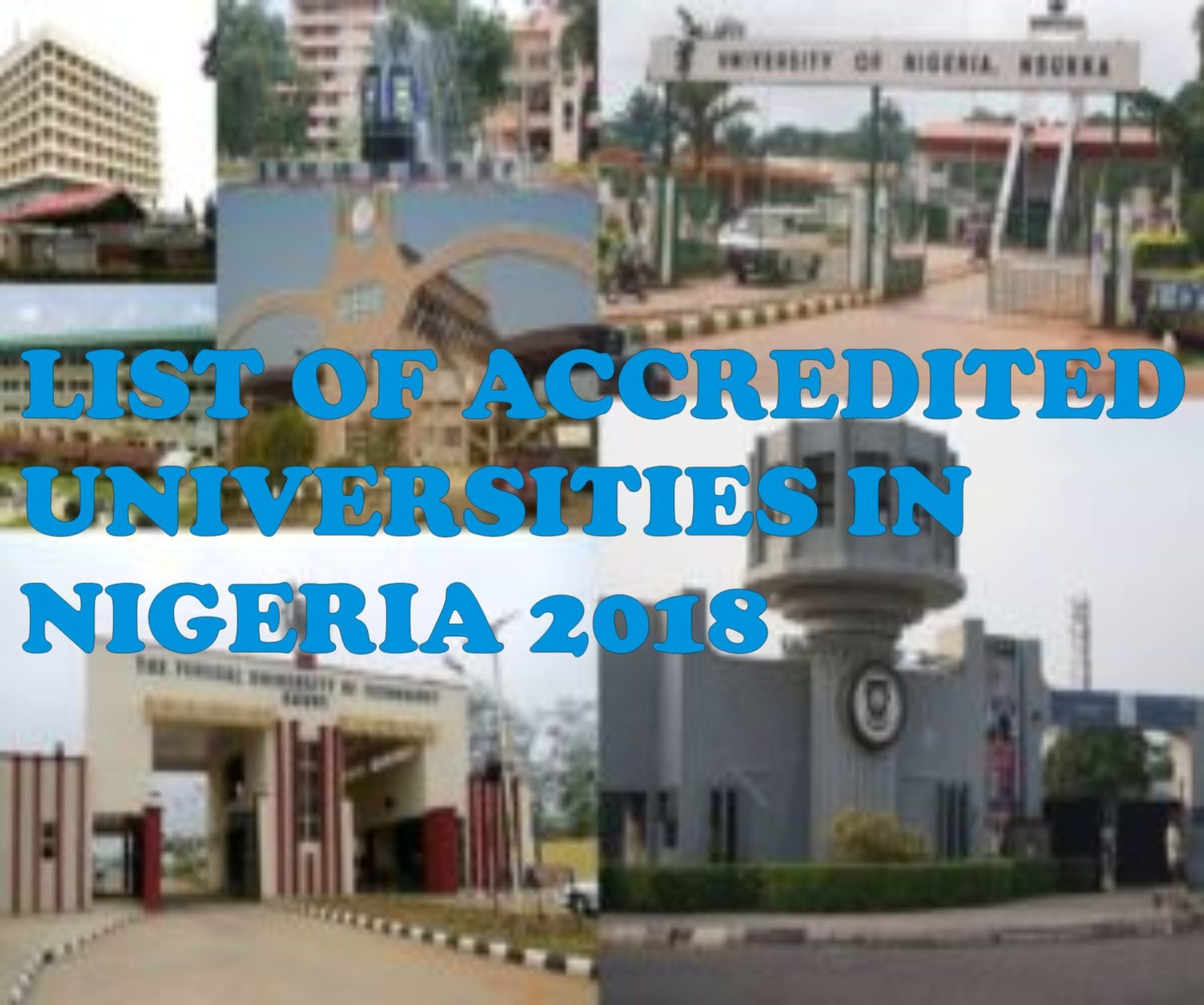 Full list of Approved Federal, State and Private Universities in Nigeria 2019- Year of establishment