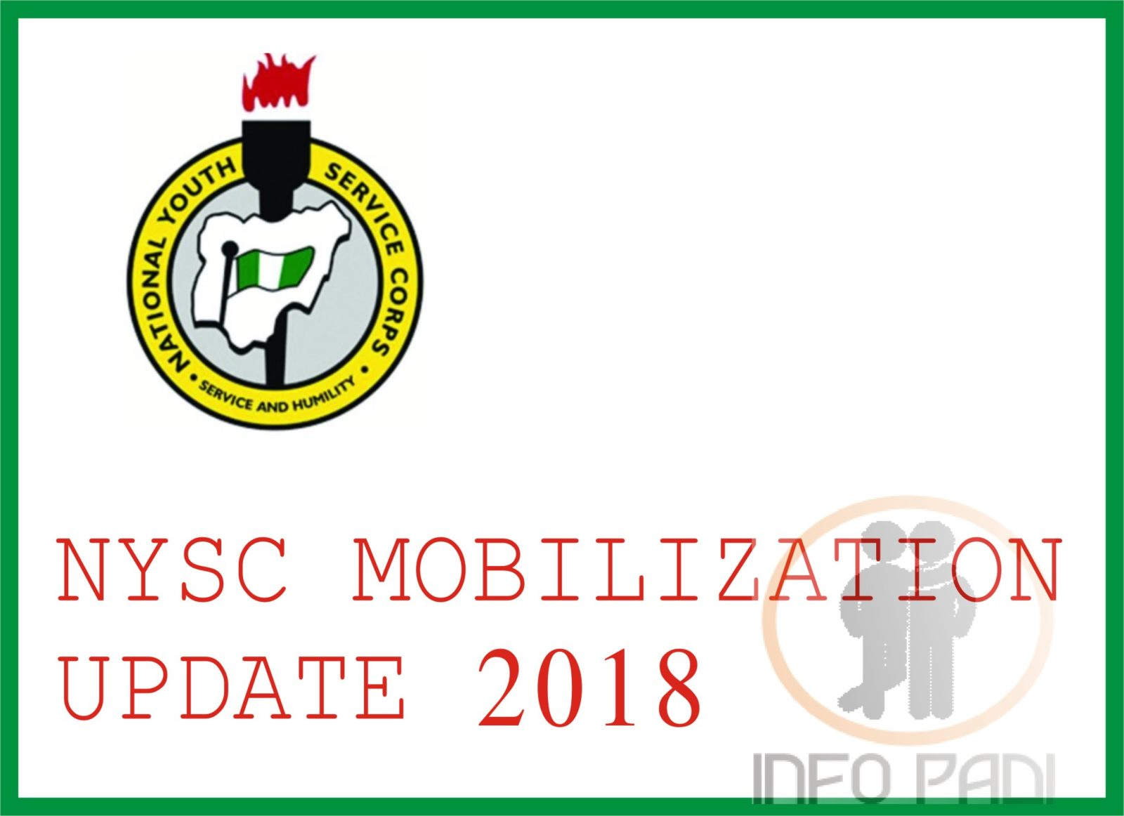 NYSC UPDATE 2018/2019- Mobilization guide for students and institutions- NYSC Batch A and Batch B