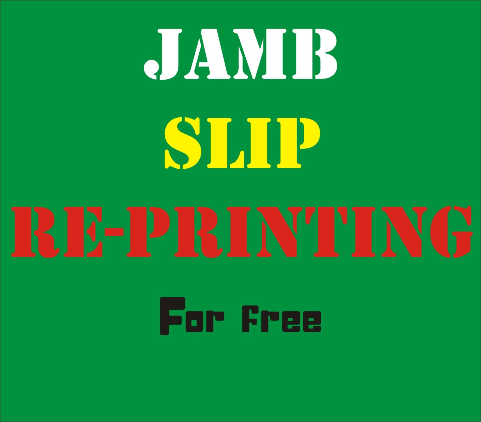 JAMB slip reprint