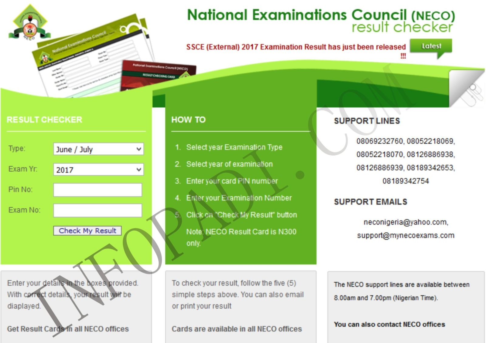 NECO RESULT CHECKER 2019/2020- How to check and print out your NECO result- mynecoexams.com