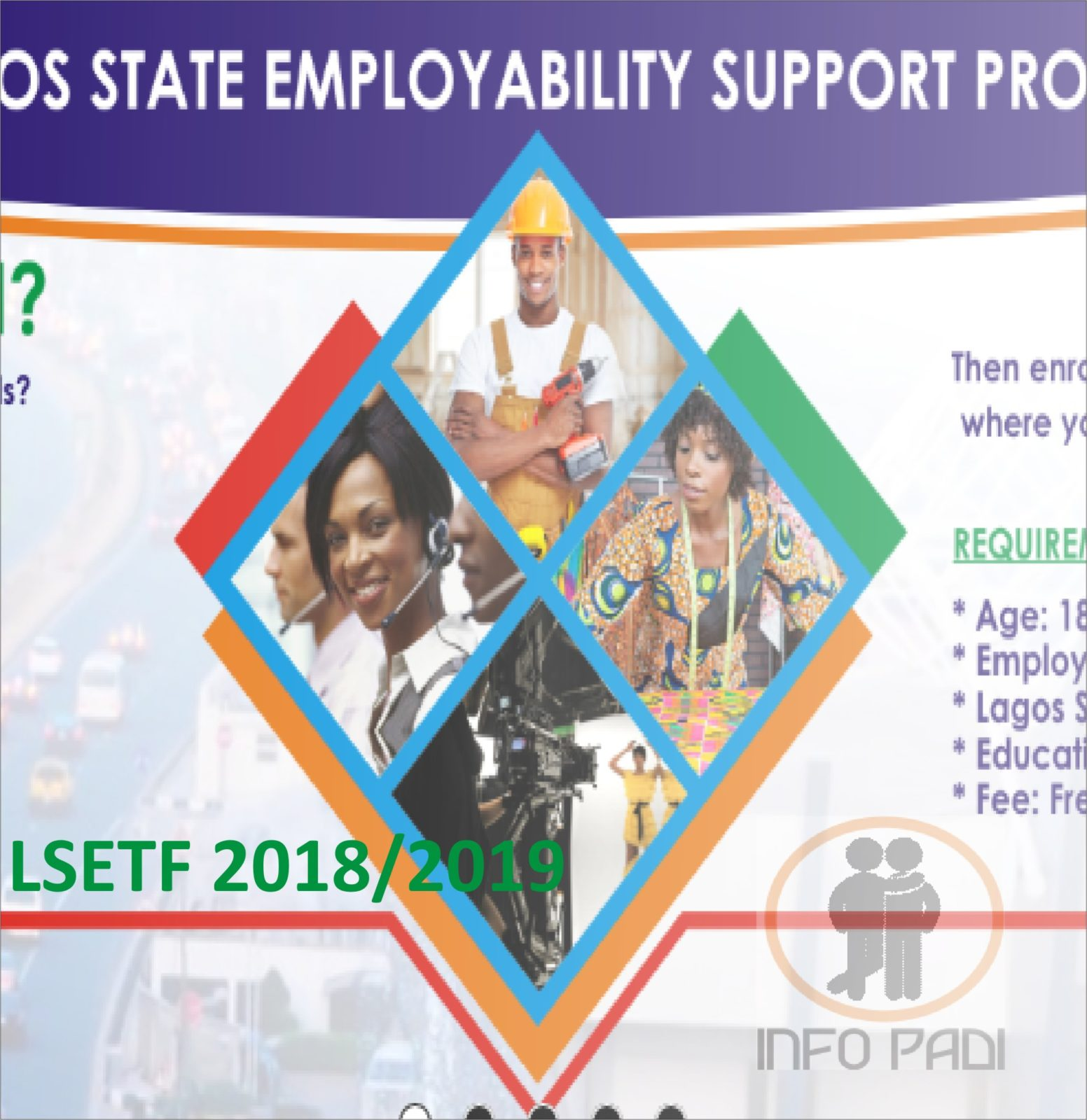Lagos State Employment Trust Fund Recruitment (LSETF) 2018/2019- Proper Steps to Apply Online
