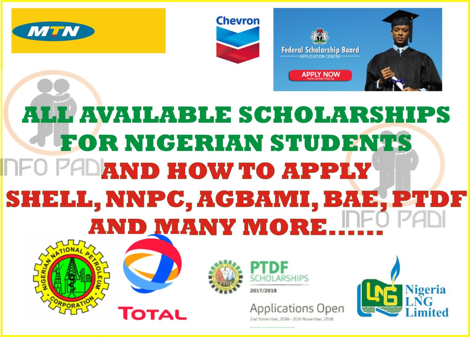 Scholarships in Nigeria-Undergraduate Scholarships for Nigerian Students 2019/2020 and how to apply (Updated)