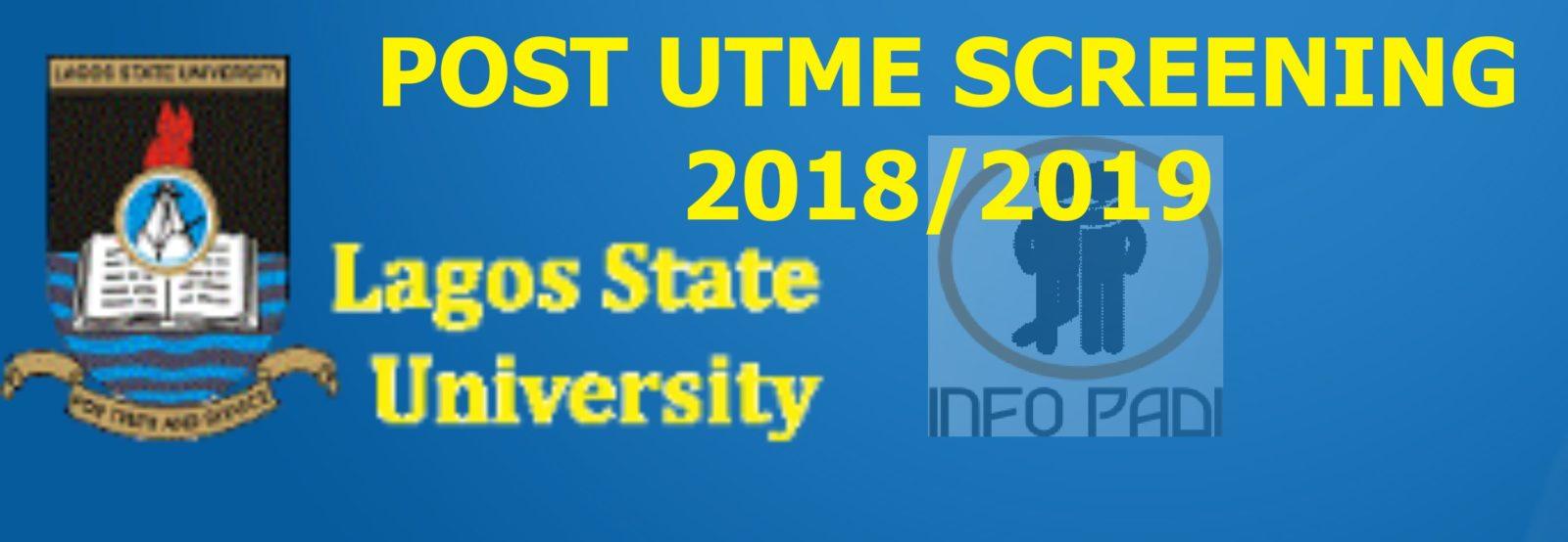 LASU POST UTME 2018/2019 ONLINE ADMISSION SCREENING EXERCISES