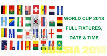 WORLD CUP 2018 (RUSSIA 2018) FULL FIXTURES – From Group Stages to Finals Schedule, Venue and Time
