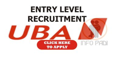 Entry Level Recruitment at UBA Bank 2018- Apply