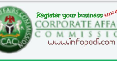 Register your business name on Corporate Affairs Commission (CAC) for 5000 Naira | Offer is limited