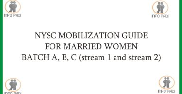 NYSC MARRIED WOMEN GUIDE