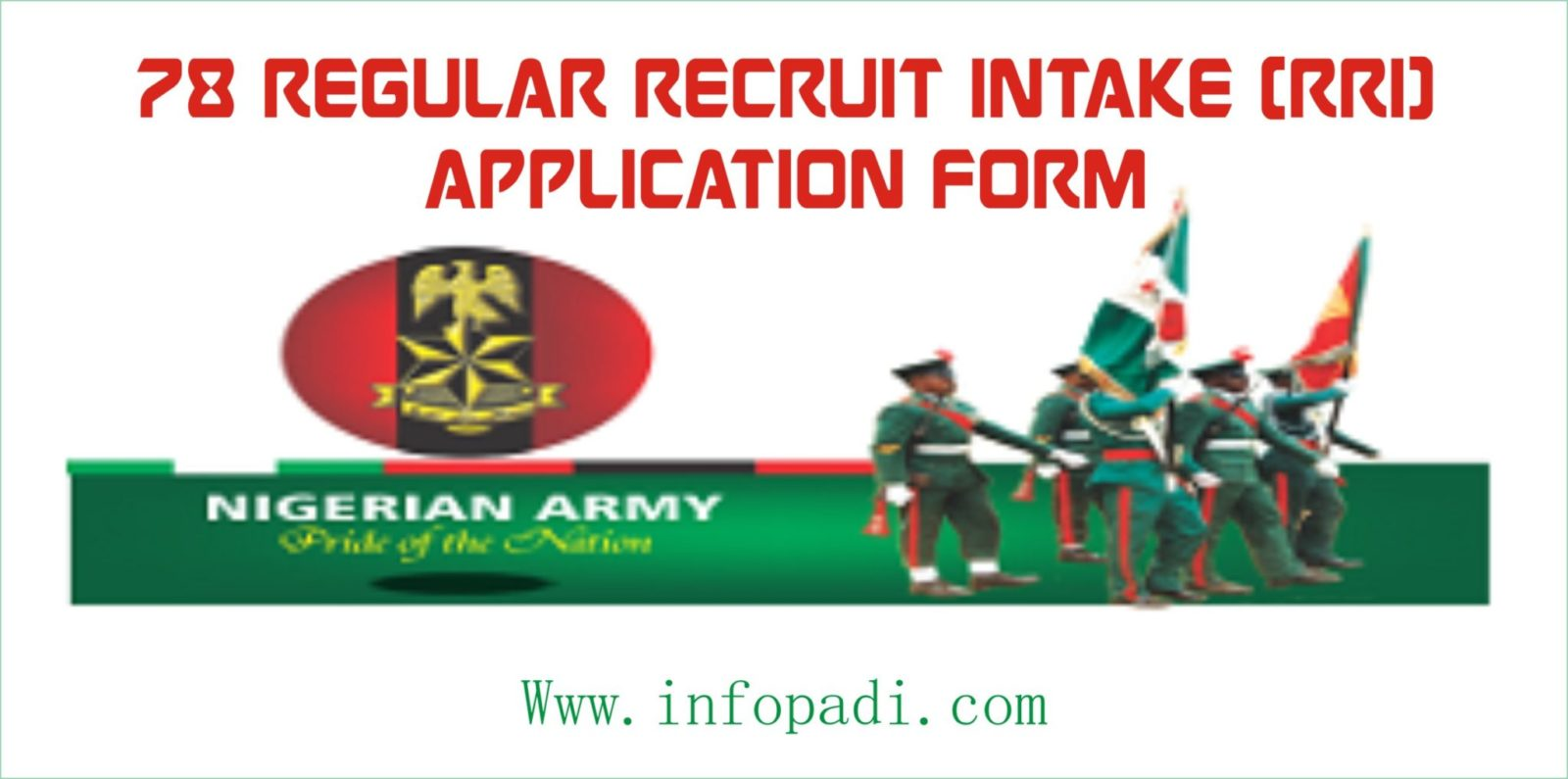 Apply Nigeria Army 78 RRI Recruitment Application Form on