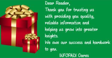 End of Year and Thank You Message to our Beloved Readers- Please Read