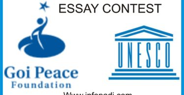 GOI Peace Foundation UNESCO ESSAY
