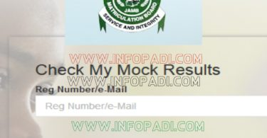 check jamb mock result