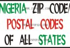 Postal Code of all States in Nigeria