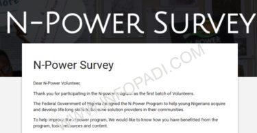 Npower Survey Form